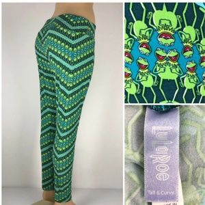Lularoe TC Kermit the Frog Leggings